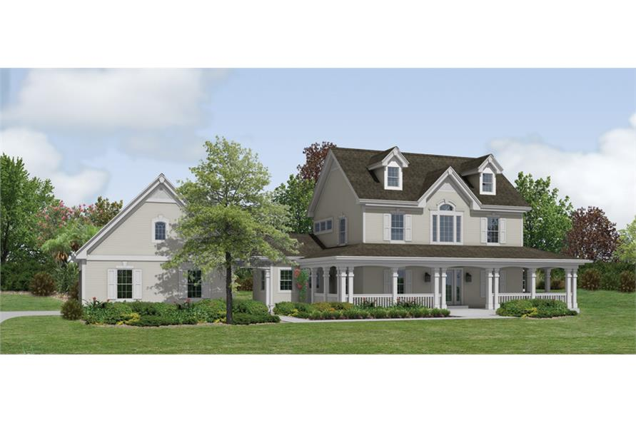Front elevation of Traditional home (ThePlanCollection: House Plan #138-1178)
