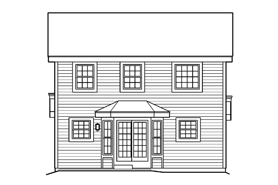 138-1179: Home Plan Rear Elevation