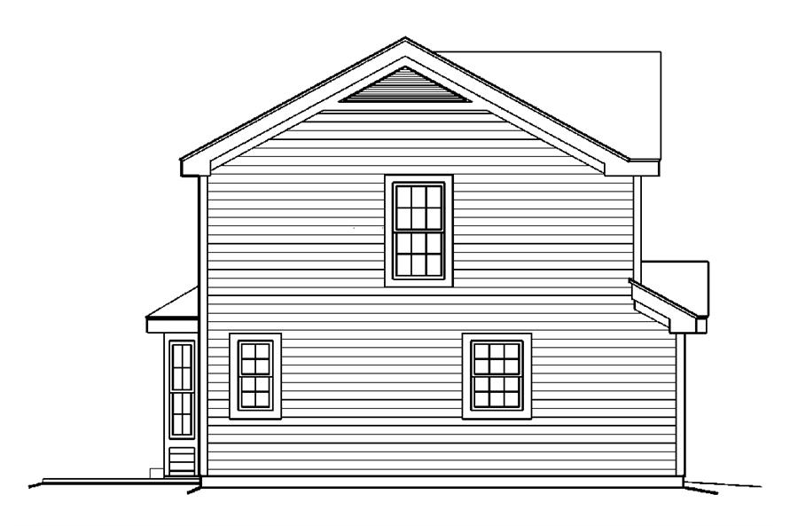 138-1179: Home Plan Left Elevation