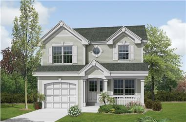 2-Bedroom, 1167 Sq Ft Traditional House Plan - 138-1179 - Front Exterior