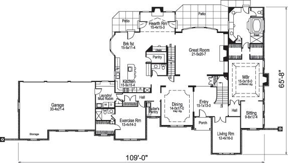 european house plan  138