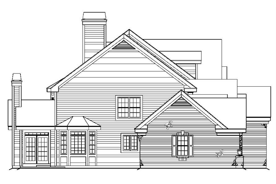 138-1180: Home Plan Left Elevation