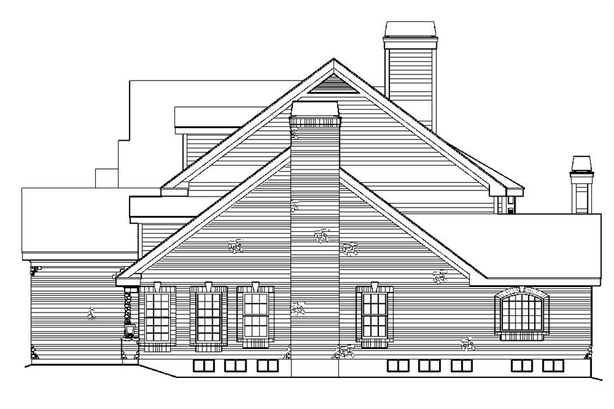 138-1180: Home Plan Right Elevation