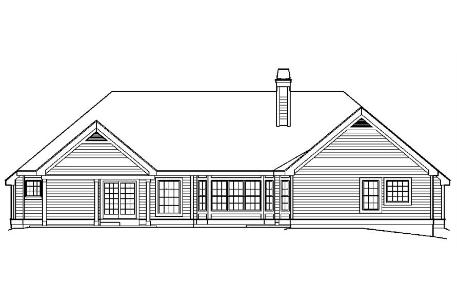 138-1181: Home Plan Rear Elevation