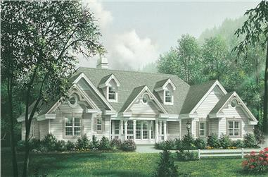4-Bedroom, 2420 Sq Ft Traditional House Plan - 138-1181 - Front Exterior