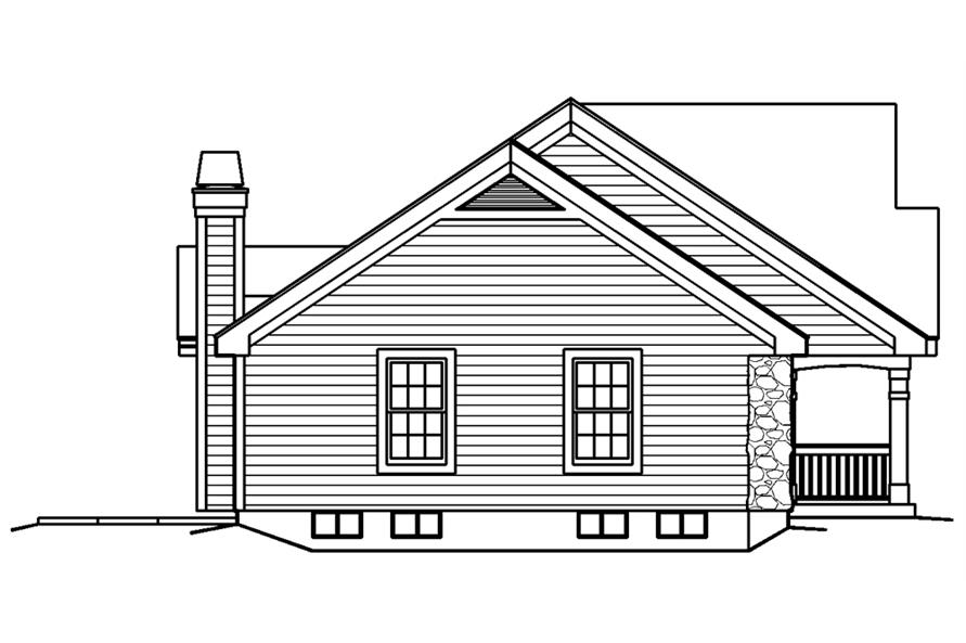Home Plan Left Elevation of this 5-Bedroom,1941 Sq Ft Plan -138-1182