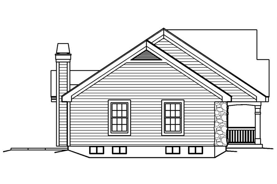 138-1182: Home Plan Left Elevation