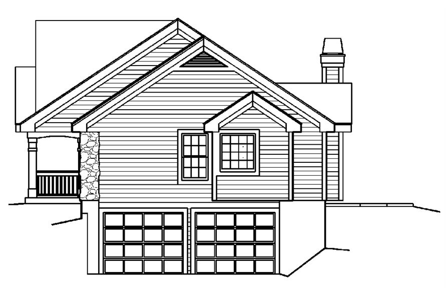 Home Plan Right Elevation of this 5-Bedroom,1941 Sq Ft Plan -138-1182