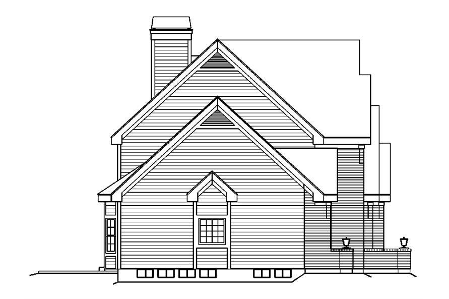 138-1183: Home Plan Left Elevation