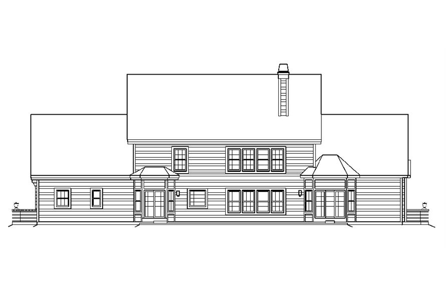 138-1183: Home Plan Rear Elevation