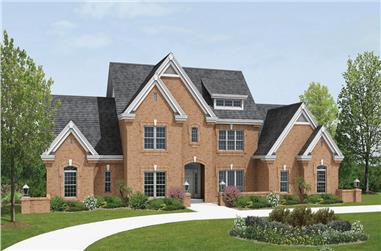 4-Bedroom, 3670 Sq Ft Traditional House Plan - 138-1183 - Front Exterior