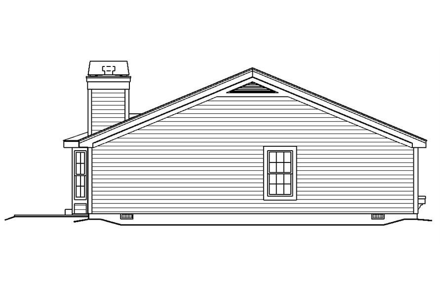 138-1185: Home Plan Left Elevation