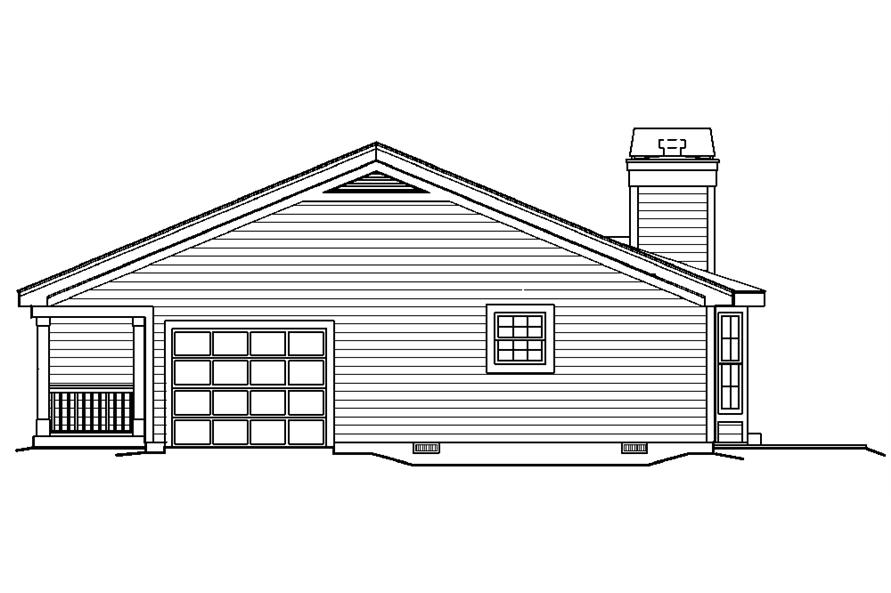 138-1185: Home Plan Right Elevation