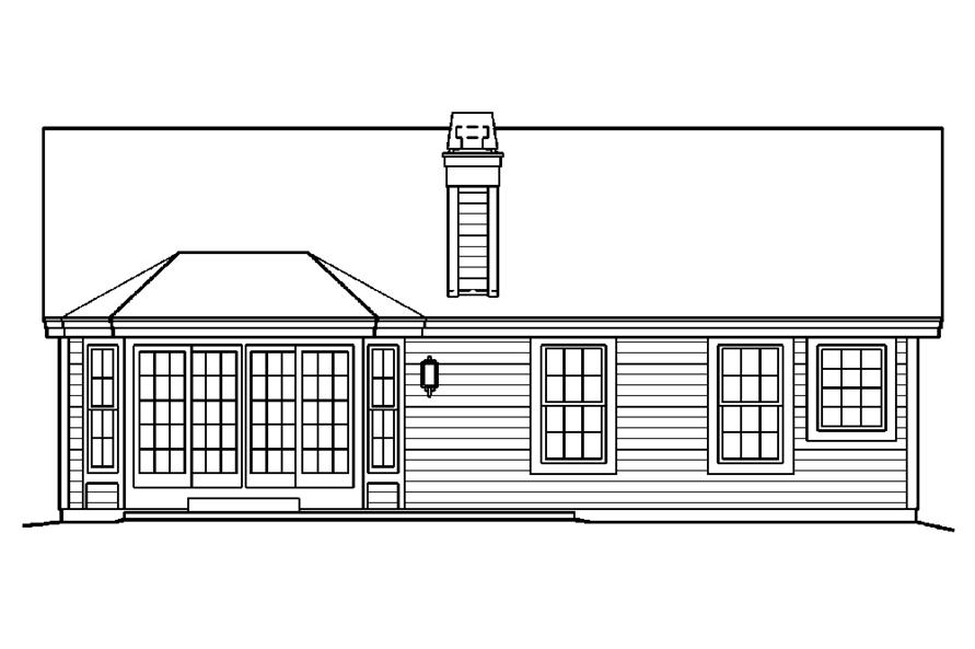 138-1185: Home Plan Rear Elevation