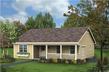 3-Bedroom, 1196 Sq Ft Ranch House Plan - 138-1185 - Front Exterior