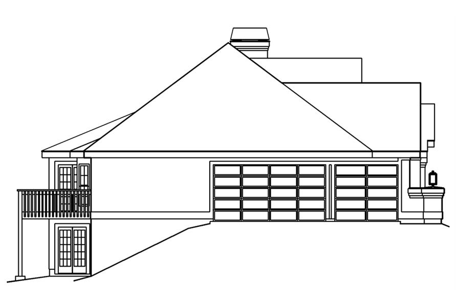 138-1186: Home Plan Left Elevation