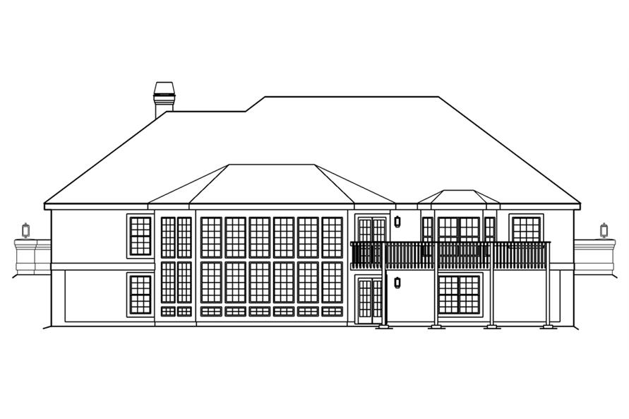 138-1186: Home Plan Rear Elevation