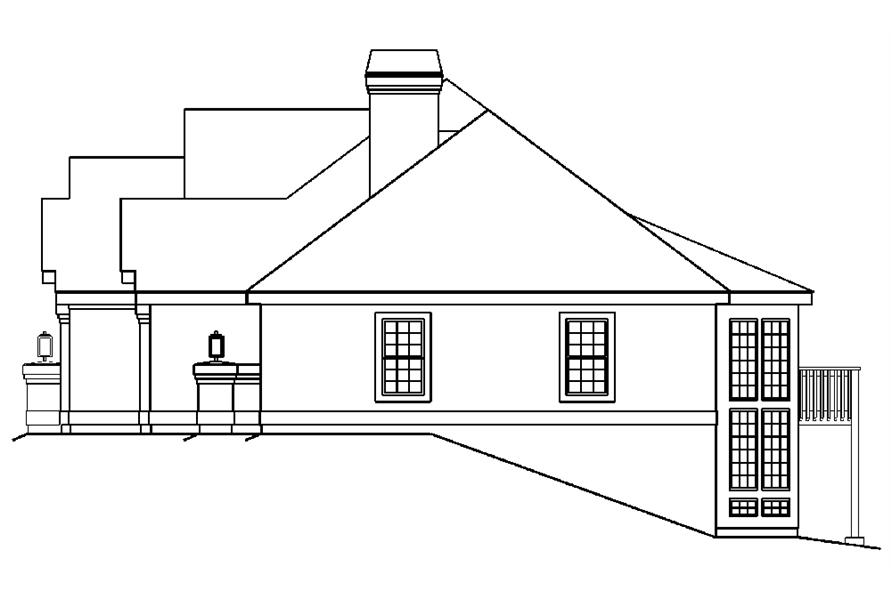 138-1186: Home Plan Right Elevation