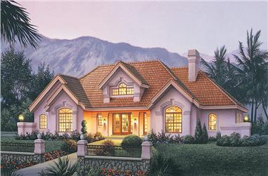 4-Bedroom, 2539 Sq Ft Ranch House Plan - 138-1186 - Front Exterior