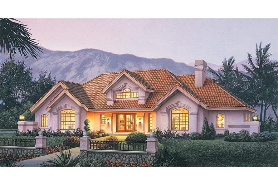 Ranch House Plan Bedrm Sq Ft Home - Luxury ranch home