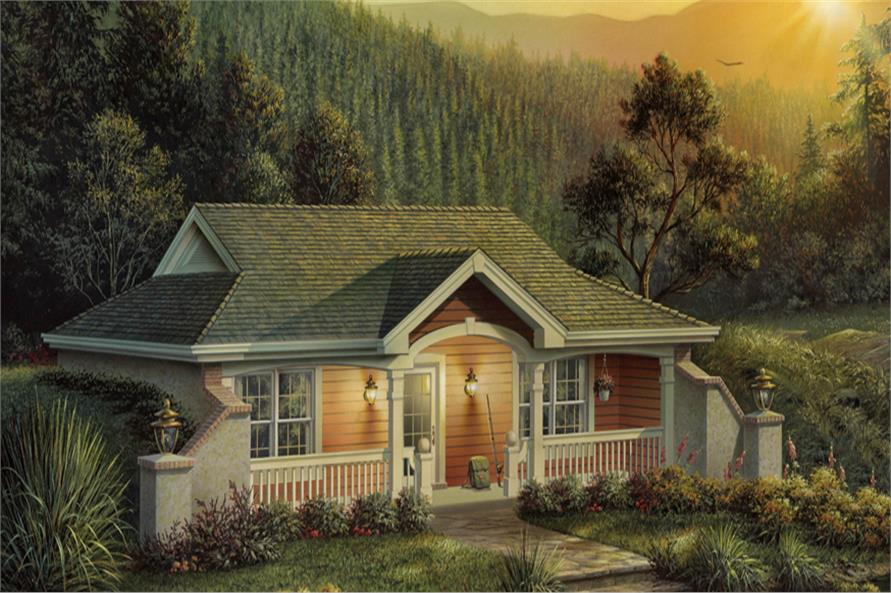 Front elevation of Vacation Homes home (ThePlanCollection: House Plan #138-1187)
