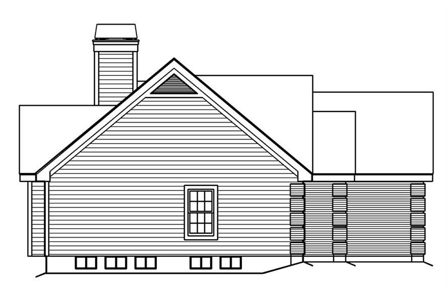 138-1188: Home Plan Left Elevation