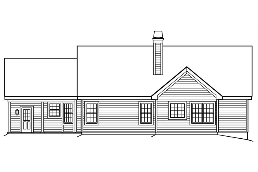 138-1188: Home Plan Rear Elevation