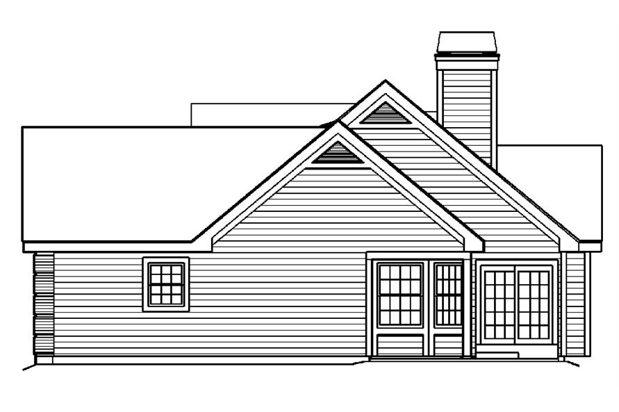 138-1188: Home Plan Right Elevation