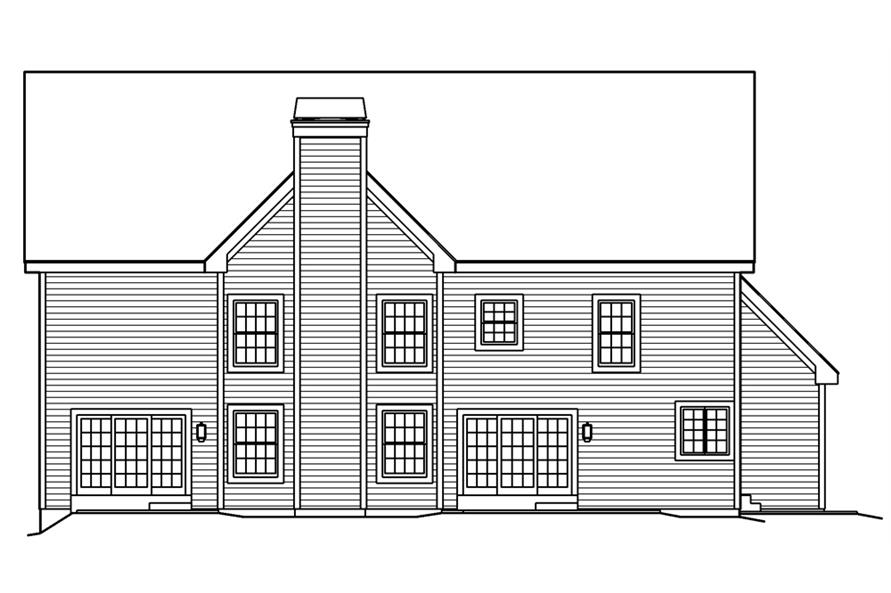 138-1189: Home Plan Rear Elevation