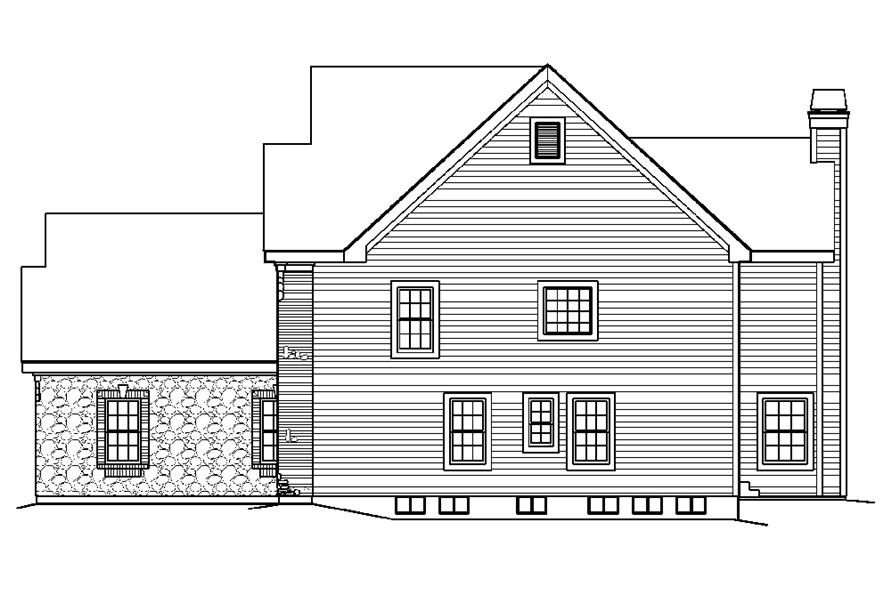 138-1189: Home Plan Right Elevation