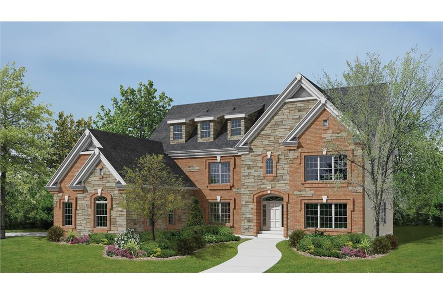 Front elevation of Traditional home (ThePlanCollection: House Plan #138-1189)