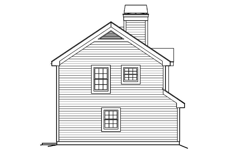 138-1190: Home Plan Left Elevation