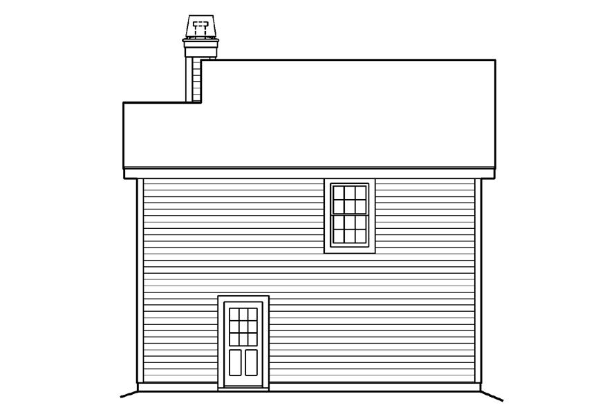 138-1190: Home Plan Rear Elevation