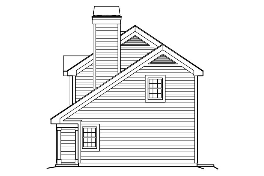 138-1190: Home Plan Right Elevation