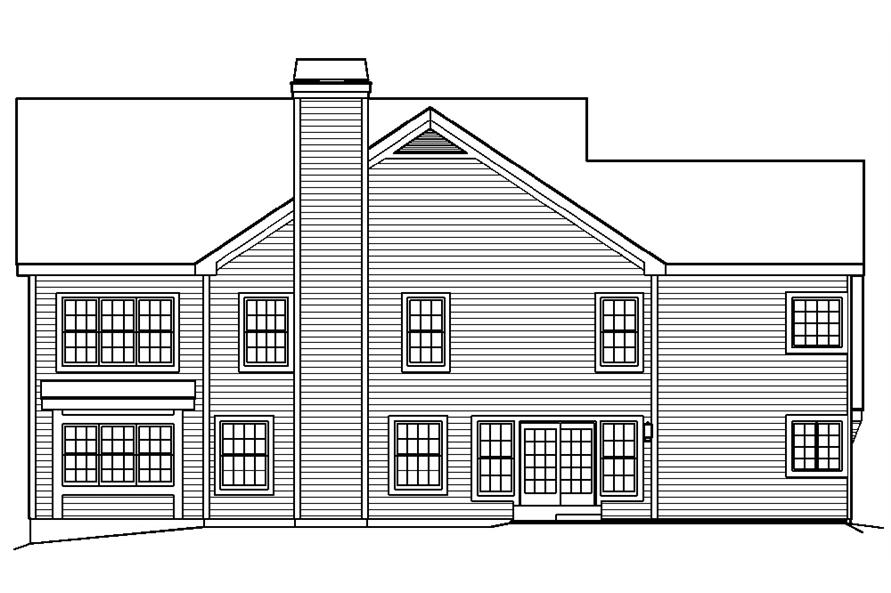 138-1191: Home Plan Rear Elevation