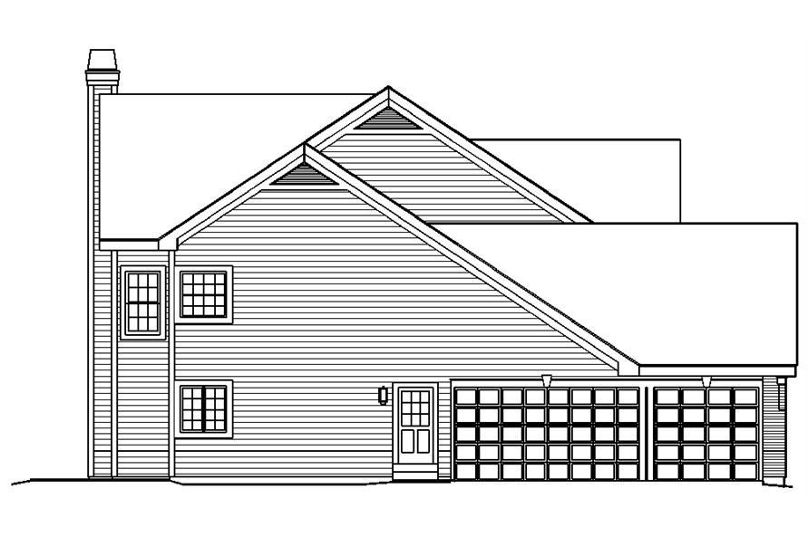 138-1191: Home Plan Left Elevation