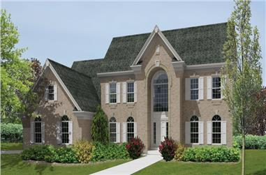 4-Bedroom, 4597 Sq Ft Traditional House Plan - 138-1191 - Front Exterior