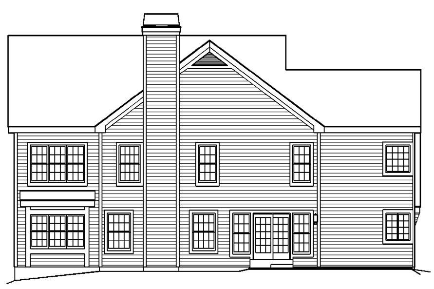 138-1192: Home Plan Rear Elevation