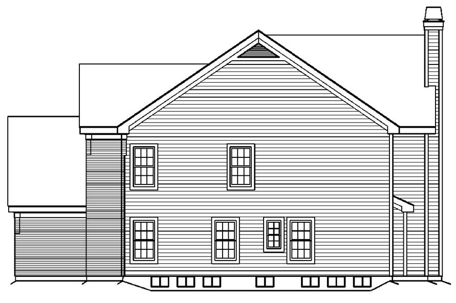 138-1192: Home Plan Right Elevation