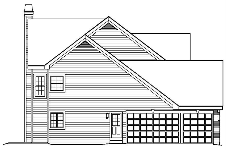 138-1192: Home Plan Left Elevation