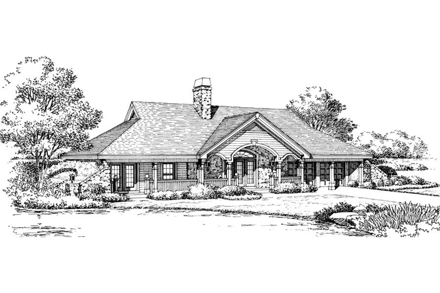 Home Plan Rendering of this 2-Bedroom,1480 Sq Ft Plan -138-1193
