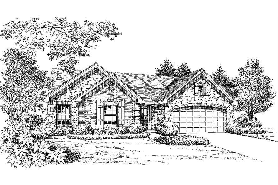 Home Plan Rendering of this 4-Bedroom,1519 Sq Ft Plan -138-1194