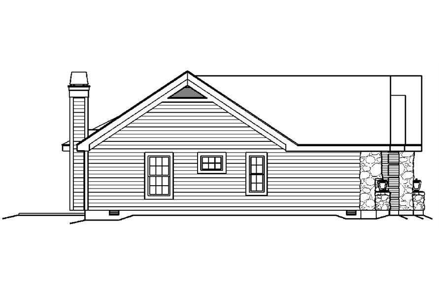 Home Plan Left Elevation of this 4-Bedroom,1519 Sq Ft Plan -138-1194