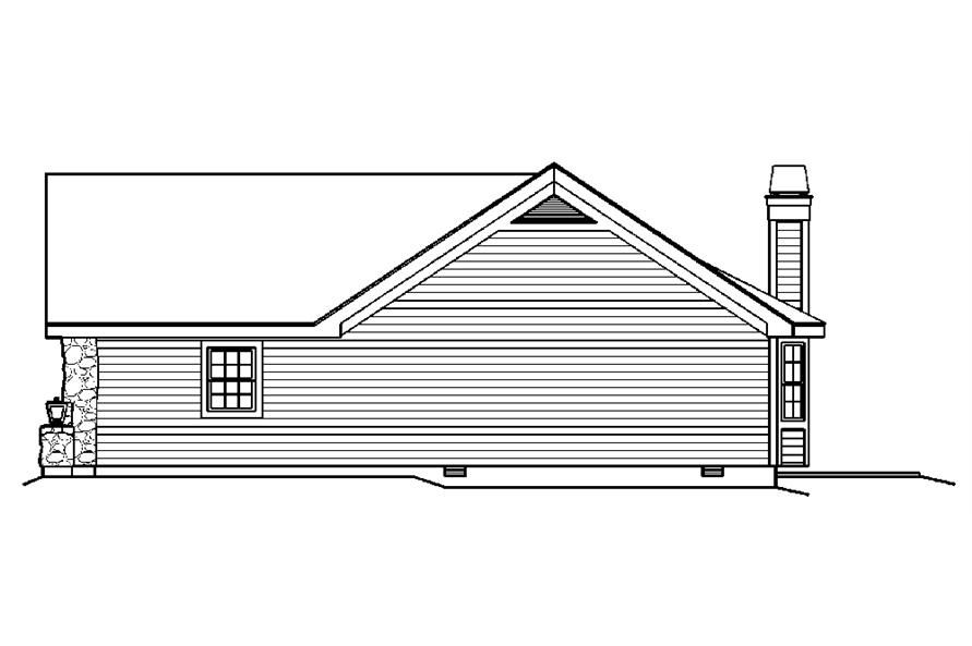 Home Plan Right Elevation of this 4-Bedroom,1519 Sq Ft Plan -138-1194