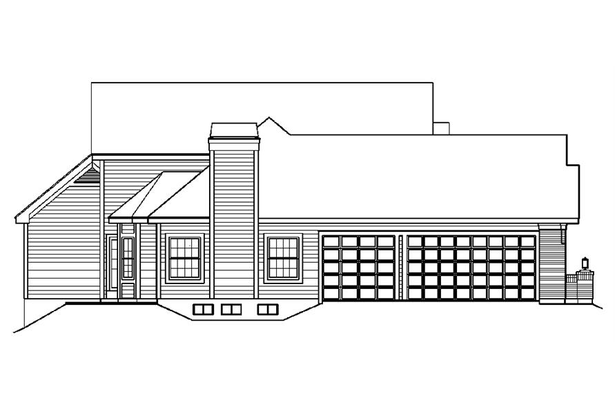138-1195: Home Plan Left Elevation