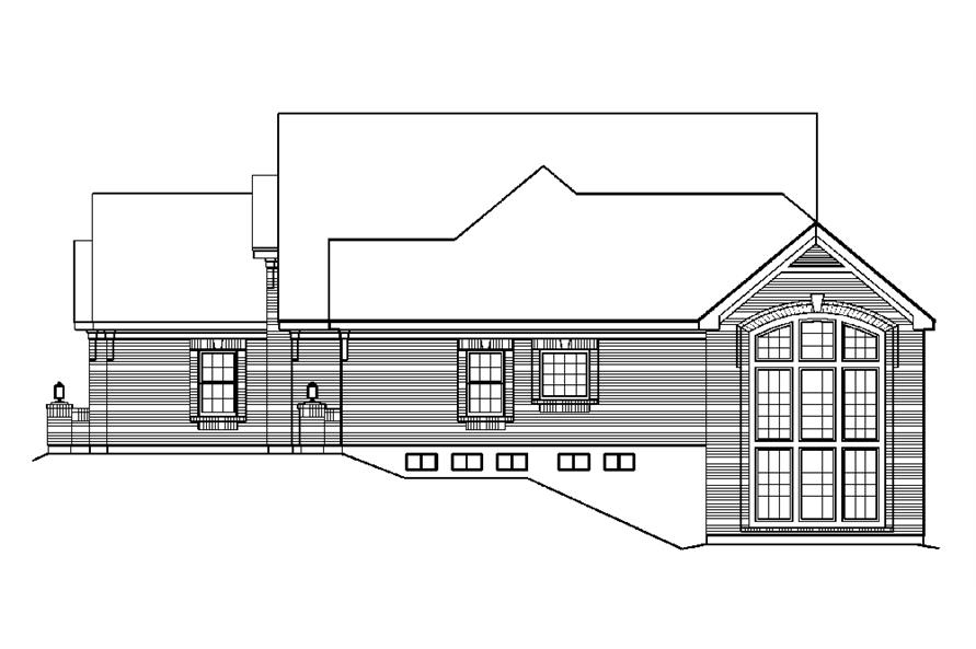 138-1195: Home Plan Right Elevation