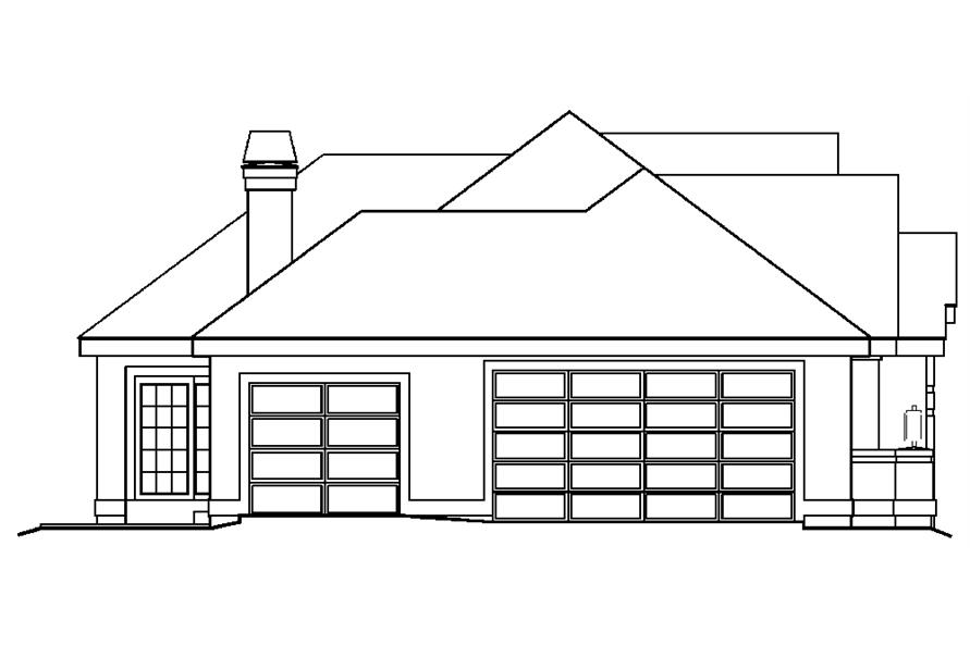138-1196: Home Plan Left Elevation