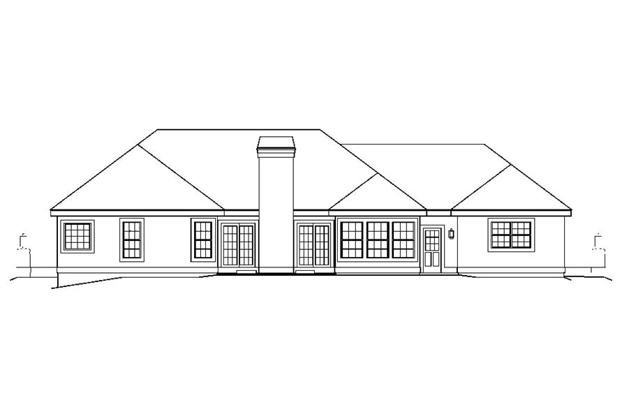 138-1196: Home Plan Rear Elevation