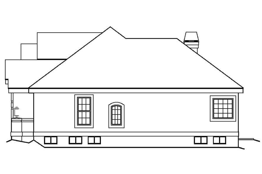 138-1196: Home Plan Right Elevation