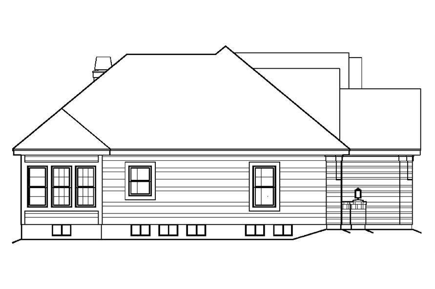 138-1197: Home Plan Left Elevation